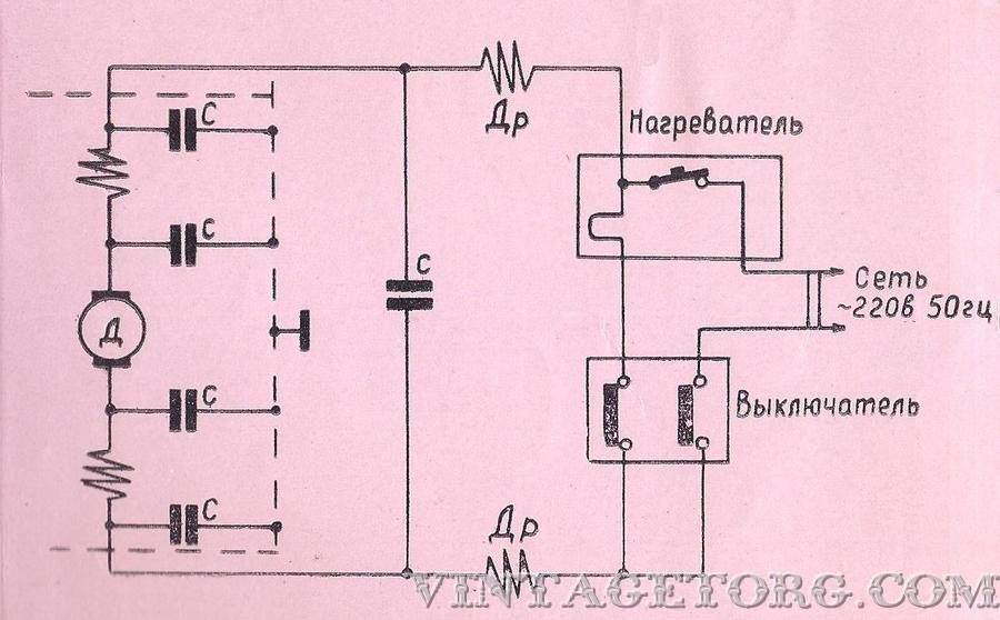 на оси (3) и электрический
