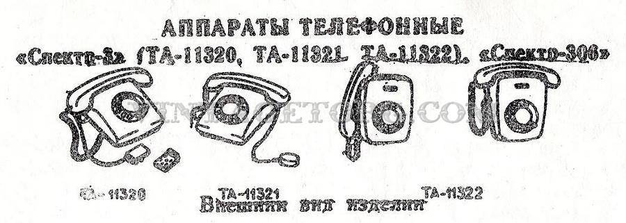Телефонные аппараты Спектр