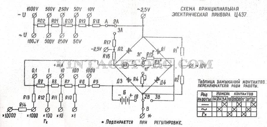 Прибор 437 Схема