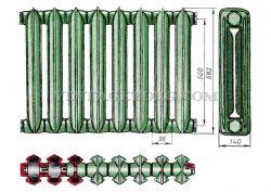 Радиатор чугунный рисунок 2