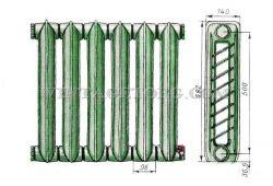 Чугунный радиатор рисунок 2