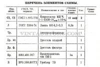 Стабилизатор напряжения УСН- 15 Олень перечень элементов схемы